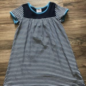 Hanna Andersson striped dress girls size 130/8